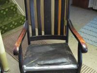ROCKING CHAIR W/CHERRY WOOD FRAME  -  SOLID WOOD SLATS