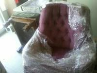 Chair that rocks and swivels.color is mauve.Very clean.