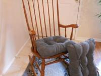 Nice solid wood rocking chair with new bottom and back