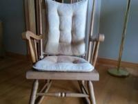 This solid oak rocking chair will make a great addition