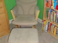 Good condition rocking chair/ottoman for nursery or