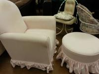 Comfy rocking chair - shabby chic (distressed) look in