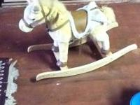 brand new rocking horse that makes horse noises and