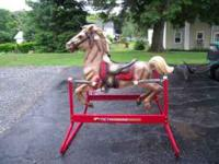 "Hedstrom 42"" spring rocking horse. Nice shape and"