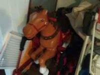 Gently used rocking horse. 50 bucks. Call Jeff @ .
