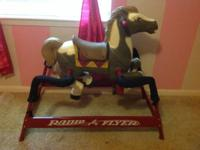 Like new radio flyer rocking horse