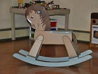 Hand Painted wooden rocking horse. Absolutely