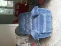 Blue rocking recliner for sale. Asking 50 OBO. Call  or