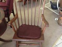 vintage rocking chair with seat cover   Please Visit