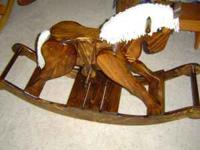 Handemade Rocking Horse, $125.00 Very well made wooden