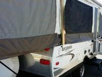 Rockwood Freedom Tent Trailer with Toyhauler Front by