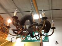 Wonderful, unique light fixture made from cast iron