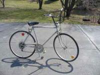 "Roddy man's 27"" road bike, 10 speed with upright"