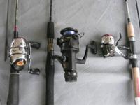 NEW DAIWA ROD AND UNDERNEATH REEL. EXCELLENT FOR