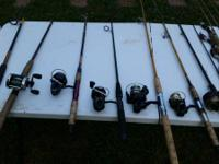 I have a bunch of fishing rods some new so used but all