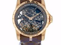 Roger Dubuis Double Tourbillon Rose Gold Skeleton Hand