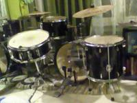 Includes kick, snare, hi hat, rack tom, floor tom,