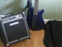 Rogue bass Guitar with amp and case, call for info.