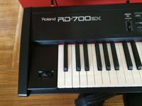 Roland RD-700 SX used primarily as a home instrument.