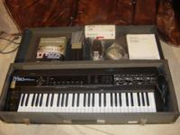 Roland D-50 Linear synthesizer with hard shell case and