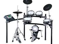 5 PIECE ELECTRIC DRUMSET. COMES WITH EVERYTHING YOU