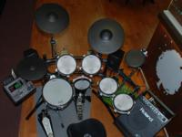 This Roland drum set is on consignment for the manager