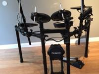 This is a beautiful set of Roland V-Drums that I bought