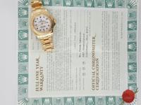 Rolex 40mm 18k yellow gold Yacht Master Watch for Men.