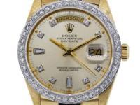 Bracelet:  18K Yellow Gold Presidential Bandn Dial: