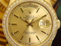 Rolex Day/Date President with 18k Gold Diamond Bezel