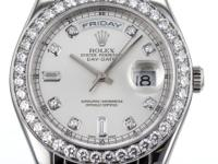 Rolex Pearlmaster 38mm Watch in Platinum with Factory