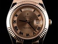 Pre-owned Rolex 18k Everose Gold President Day-Date II