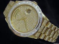 Genuine Rolex  10.00ct Diamonds  100% Lifetime Trade-Up