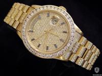 Genuine Rolex  9.50ct Diamonds  100% Lifetime Trade-Up
