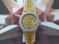 Pictures are of the Actual Watch Auctioned Ladies Rolex