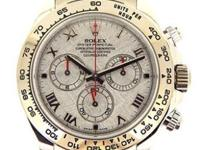 Rolex 18k white gold Daytona, automatic, size 40mm.