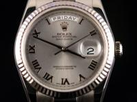 Pre-owned Rolex 18k White Gold President Day-Date 36