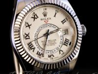 Pre-owned Rolex 18k White Gold Sky-Dweller 326939