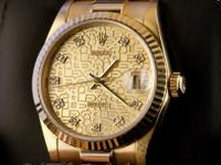 Pre-owned Rolex 18k Yellow Gold Midsize President
