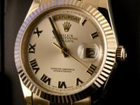 Pre-owned Rolex 18k Yellow Gold President Day-Date 36