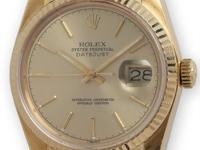 Rolex 18K yellow gold Datejust, ref 16018, serial# 9.0