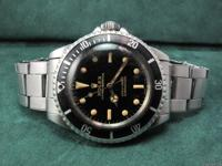 Up for sale is a rare 1965 Rolex Submariner 5513,