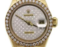 Dial: Silver dial with round brilliant diamonds and