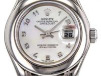 Ladies Rolex Pearlmaster 29mm Watch in 18K White Gold