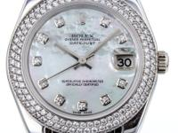 Ladies Rolex Pearlmaster 32mm Watch in 18K White Gold