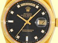 factory rolex black dial with round and baguette
