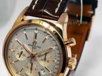 Breitling Transocean Chronograph 43mm Watch 18k Rose