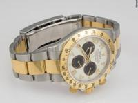 Men's Rolex Dayonta wristwatch in 18k yellow gold and