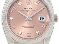 Case: Original Rolex stainless steel case 34.0 mm in