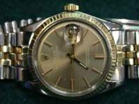 This Rolex Datejust was manufactured in 1968 with a